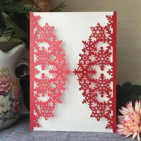 Hollow Laser Cut Wedding Invitations Cards Chinese Traditional Pattern Christmas Theme Party Greeting Cards Wedding Invitation Stationery Wedding