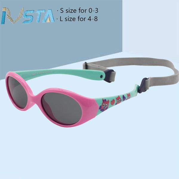 IVSTA Baby Sunglasses Polarized Lenses 0-3 years Small Size Kids Sunglasses 4-8 Years TR90 Glasses Silicone No Screw Unbreakable Girls Boys