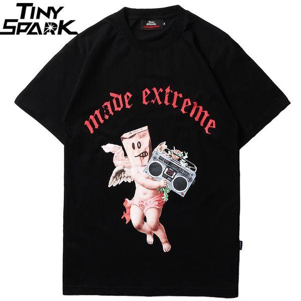 WP Men Hip Hop T Shirt Funny Baby Angel Radio Retro Tshirt Streetwear 2019 Summer Harajuku T-Shirt Cotton Tops Tees Short Sleeve