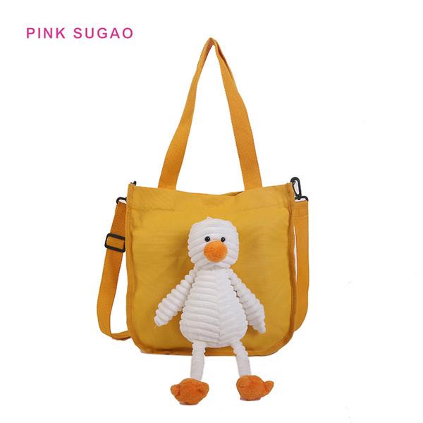 Pembe Sugao tasarımcı çanta crossbody çanta kadın omuz çantası çanta ördek tuval messenger çanta ile güzel çantalar fabrika toptan çanta