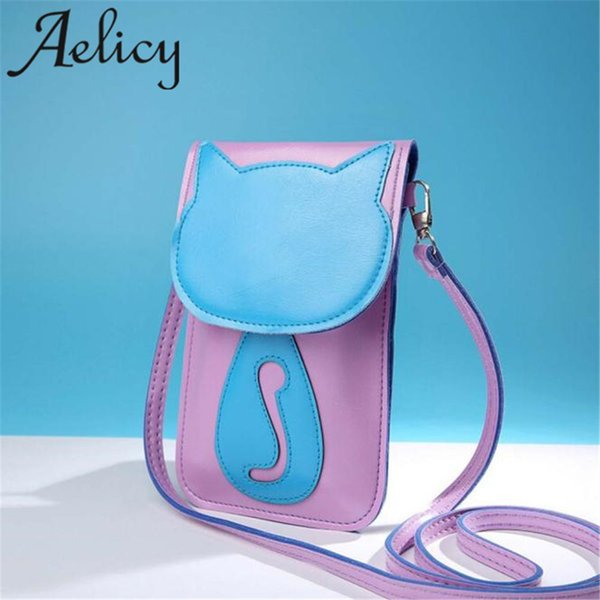 Cheap Aelicy 2019 Hot New Light High Quality Women Girls Cute Cartoon Purse Bag Leather Cross Body Shoulder Phone Coin Bag