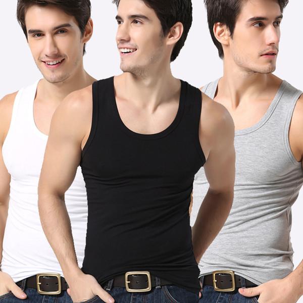 mens Canottiere modali Canotta Cotone estivo Slim Fit Uomo Intimo Abbigliamento Bodybuilding Canotta Golds Fitness canotte T-shirt di sollevamento