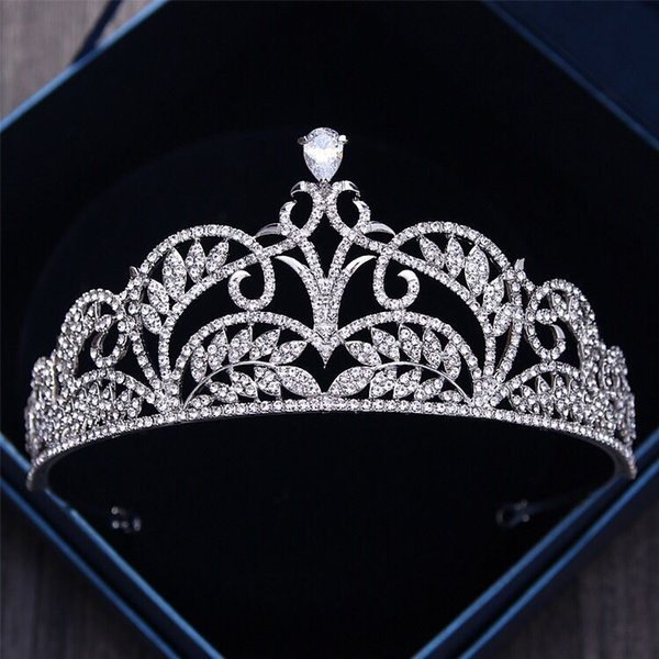 2019 nuevo lujo diadema coronas de boda accesorios para el cabello corona nupcial y diademas casamientos de boda sombreros de boda fascinadores