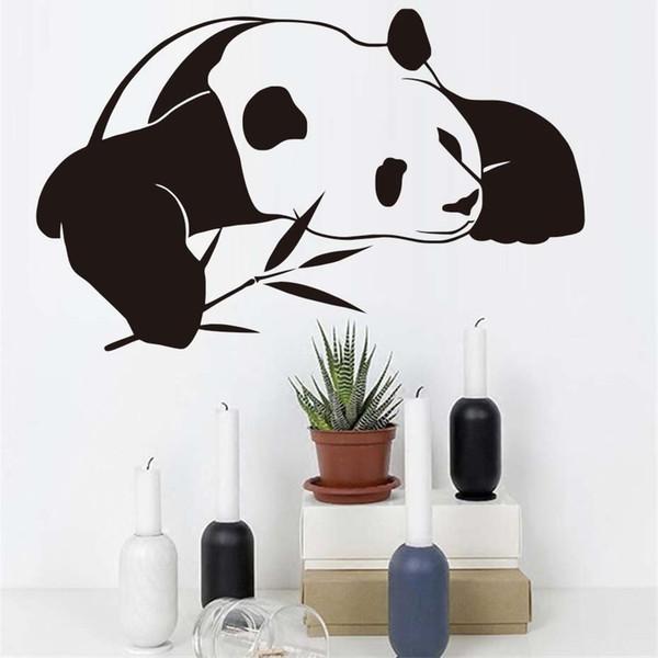 Stickers muraux panda chinois pour la chambre des enfants animal mignon papier peint bricolage imperméable auto mur adhésif Art Stickers Home Decor