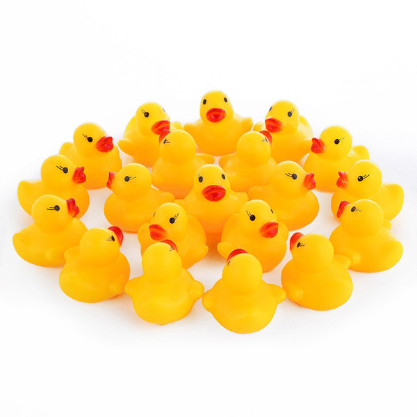 Mini Rubber Ducks вода Fun Игрушки Плавающие Утки Сожмите Звуки ванны Игрушки для младенцев Игрушки для ванной