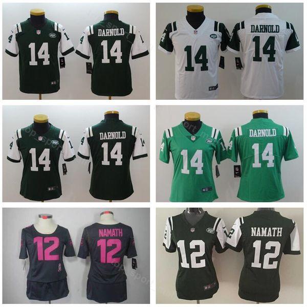 best website f776e 3276c 2019 Woman Kids New York 14 Sam Darnold Youth Jersey Jets Children Football  Women Joe Namath Jerseys 12 Lady Green White Black High Quality From ...