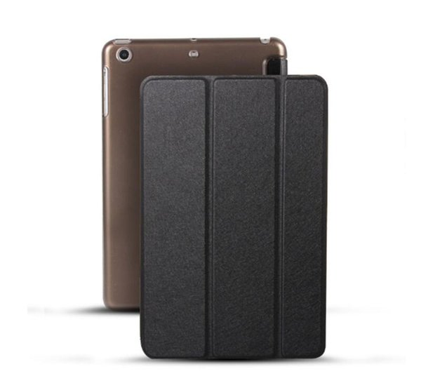 Silk Style Case for iPad Pro 11 12.9 2018 Three Fold Flip Stand Cover Business Pu Leather Smart Case