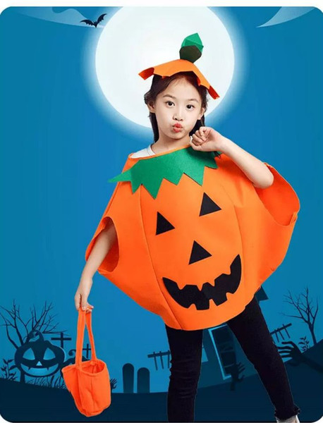 Halloween Children's Clothing Kindergarten Girls Performing Dresses Witch Performing Party Suits Boys Pumpkin Dresses