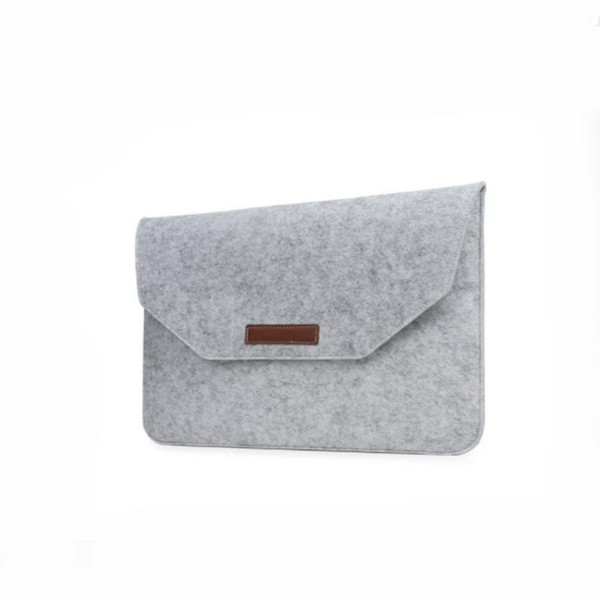 Felt laptop bag flat bag 11inch protector macbook case Polyester Protective Case Cover with Pocket