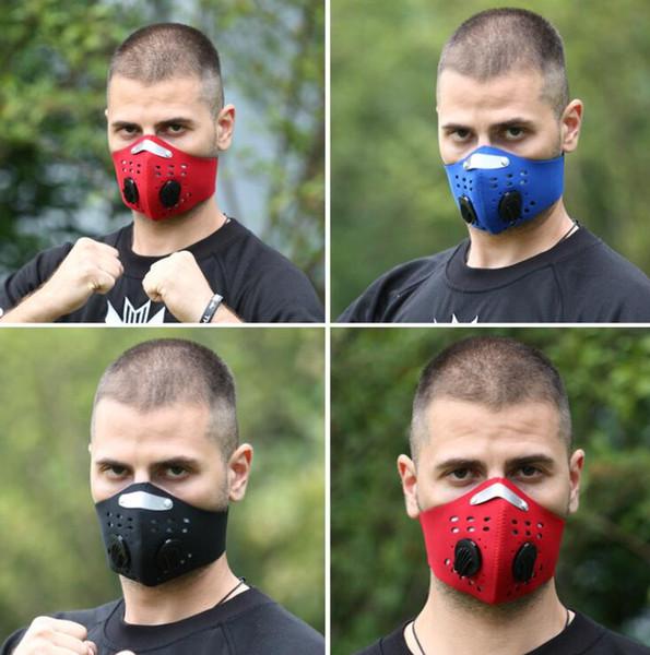 Máscara de montar pm2.5 Activado Smog de carbono Respirable a prueba de polvo Máscara de bicicleta Media mascarilla Envío gratis