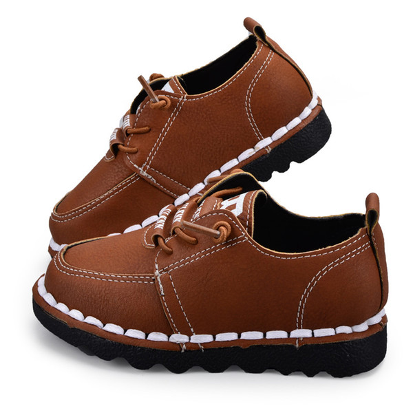 Children Sneakers Boys Girls Sport Running Shoes Top Leather Canvas Spring Autumn For Female Boys Kids Casual Shoes
