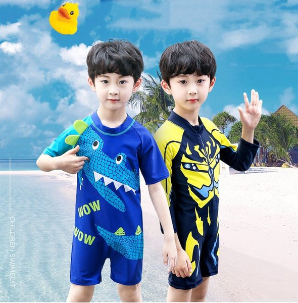 best selling Children's Swimwear Boys 2019 New Cartoon Pattern Baby Swimsuit Boy Kids One Pieces Bathing Suit Toddler Baby Boy's Swimming Suits