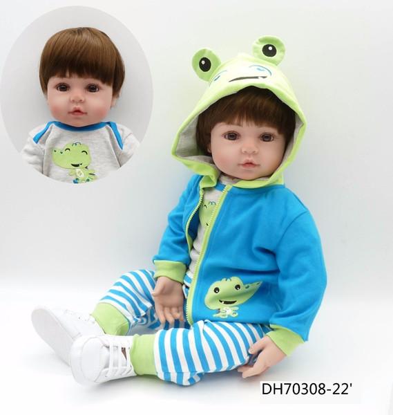 Npk 47cm Silicone Super Lifelike Toddler Baby Bonecas Kid Doll Bebes Brinquedos Reborn Toys For Kids Gifts Q190530
