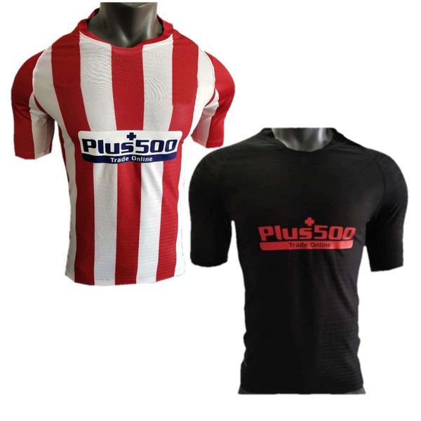 Player Version 2019/20 Madrid Soccer Jersey 2020 JOAO FELIX KOKE Soccer Uniform SAUL DIEGO COSTA Away Black Football Shirt