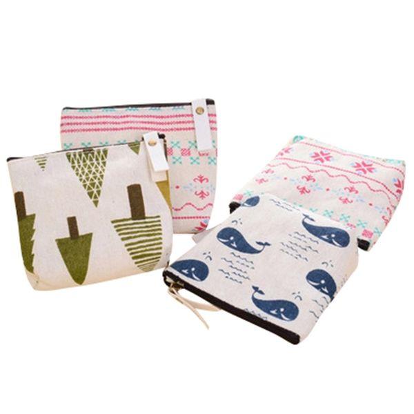 2019 new cute Korean version of the fabric zipper forest coin purse coin bag simple fashion canvas cartoon key bag wholesale