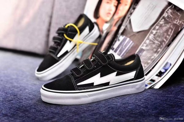 2019Newest Revenge x Storm Sneakers Pop up Store Top Quality Old SKool Off Fashion Grid Men Skateboard Vulcanized Ins Canvas Shoes 36-44