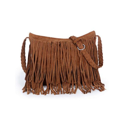 2018 Nuova borsa da donna bohémien solida Borsa a tracolla in pelle scamosciata messenger a spalla nappa Borsa da donna