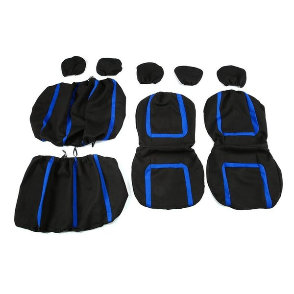 Auto Seat Covers 9pcs Detachable Washable Universal Vehicle Protective Covers Comes with full complete mount snaps