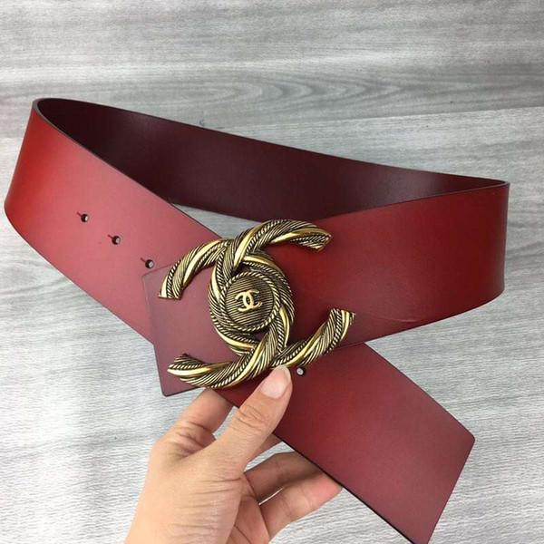 zapatos deportivos b3ba1 24431 Compre Cinturón De Mujer De Moda 2019 Nuevas Damas Dorado Hebilla Lisa  Cinturón Hebilla Grande Ancho Ancho De Banda 7.0 Cm A $22.85 Del Ouyan0121  | ...