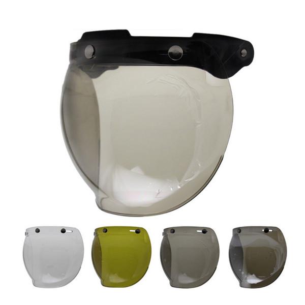 3 snap viseira bolha motorcycle bubble shield visor vintage helmet lens shield glasses for THH BEON for BILTWILL helmet