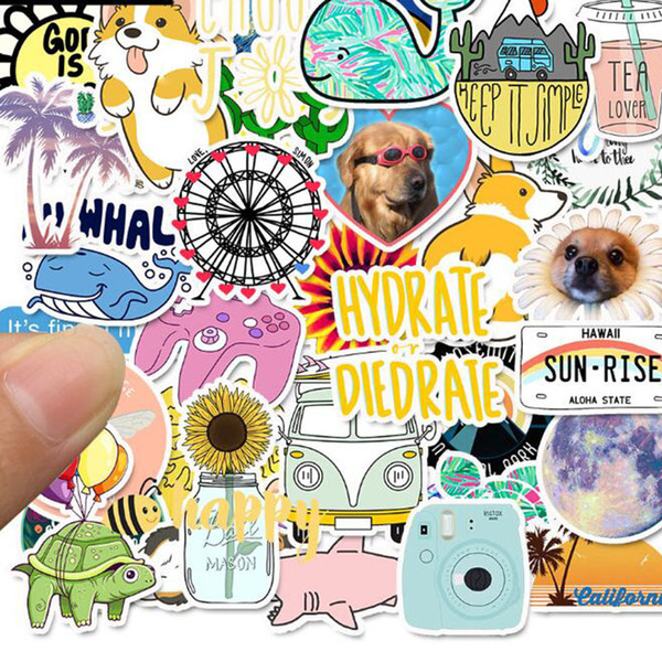 Retro Travel Stamp Stickers Waterproof Postage Building Decal Sticker Toys Gifts To Diy Suitcase Scrapbook Laptop Guitar Kid Wall Stickers Kids