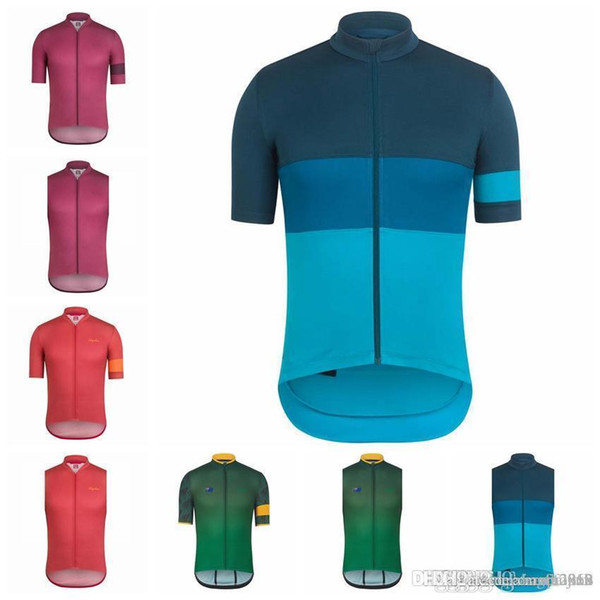 RAPHA team Cycling Short Sleeves/Sleeveless Jerseys Vest Breathable Racing Bicycle Cycling Clothing mountain biker men F502