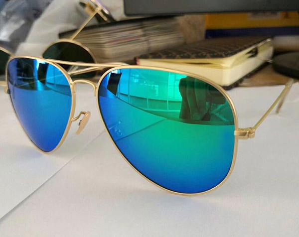 Erkekler Için yeni Marka Tasarımcısı Pilot Güneş Kadınlar Outdoorsman Güneş Gözlükleri Gözlük Altın Kahverengi Kılıfları Ile 58mm 64mm Cam Lensler 18 renkler