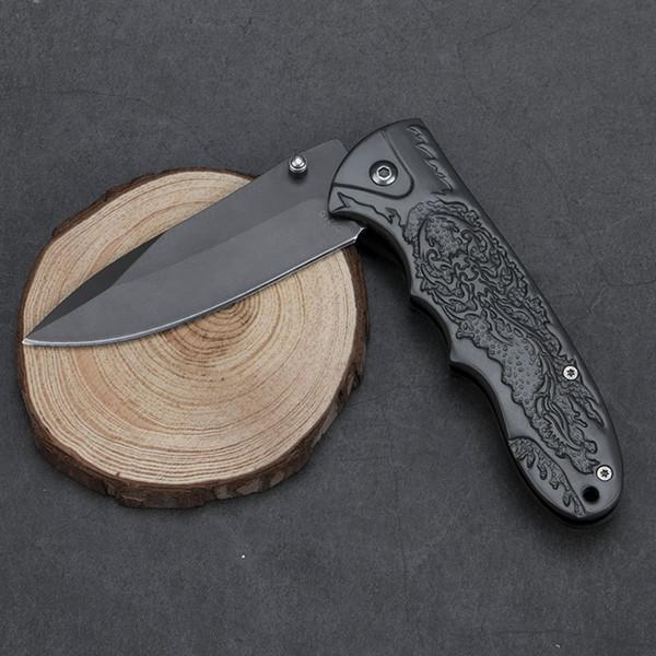 Scorpion Knife Pocket Folding Knife Stainless Steel Blade Flipper Ball Bearing EDC Knife Outdoor Camping Survival Tool
