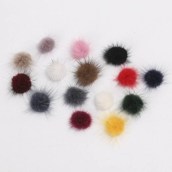 100pcs/lot 30MM Mink Fur Ball Fur Pompom DIY Jewelry Findings Mink Ball for Shoes Jewelry Cloth Decoration Making Handmade Craft