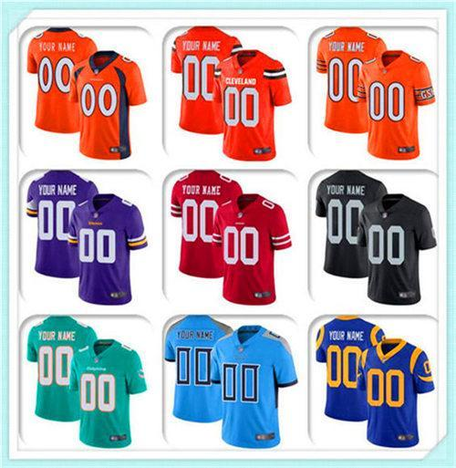 Custom MENS WOMENS Football Jersey Chicago Cincinnati Cleveland Dalla 100TH Cowboy Broncos Browns Bengals Bears sports Colts Lions SPORT