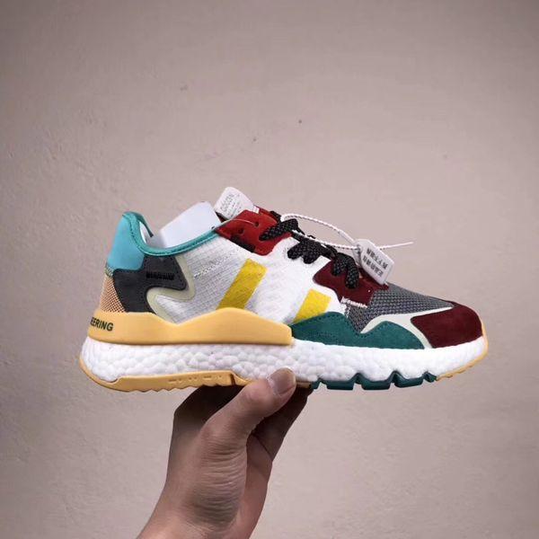 Nova Cor 2019 Nite Jogger Pipoca Alta Elastic Running Shoes para Alta qualidade triplo s Homens Ao Ar Livre Tênis Atléticos Tamanho 40-45