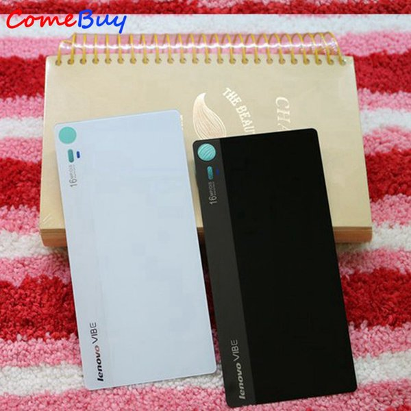For 5 0 Lenovo Z90 Back Glass Battery Cover Z90a40 Z90 3 Z90 7 Rear Door  Housing Case For Lenovo Vibe Shot Z90 Battery Cell Phone Cases Phone Case
