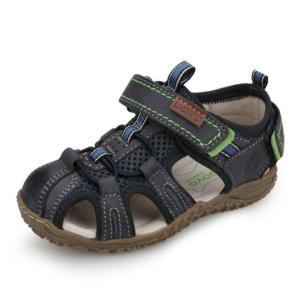 New 2019 Leather Sandals Boys and Girls Summer Beach Shoes Little Children Baotou Sport Sandals For Kids Size 25#-36#
