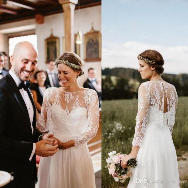 2019 Fall Wedding Dress Jacket Shawls Sexy Back Bridal Wraps With Long Sleeves Custom Made Lace Bolero Custom Made