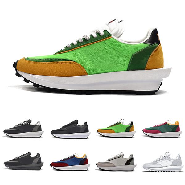 Acheter 2019 Nike Sacai LDV X Gaufre Formateurs Daybreak Hommes Chaussures De Course Vert Gusto Pin Loup Vert Gris Pour Femmes Hommes Sports De Plein