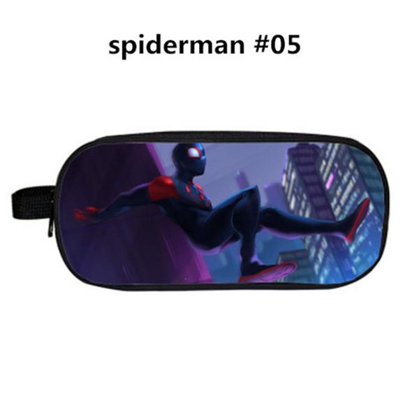 34 Стиль Дизайн Spiderman полиэстер Пенал мультфильм Pen Сумки Поставка Студенты Большие емкости Канцтовары для хранения сумка кошелек аксессуары