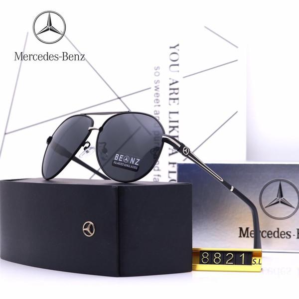 Novos óculos de sol de alta qualidade da marca designer de moda 8758 óculos de sol dos homens Das Mulheres de sol com caixa original
