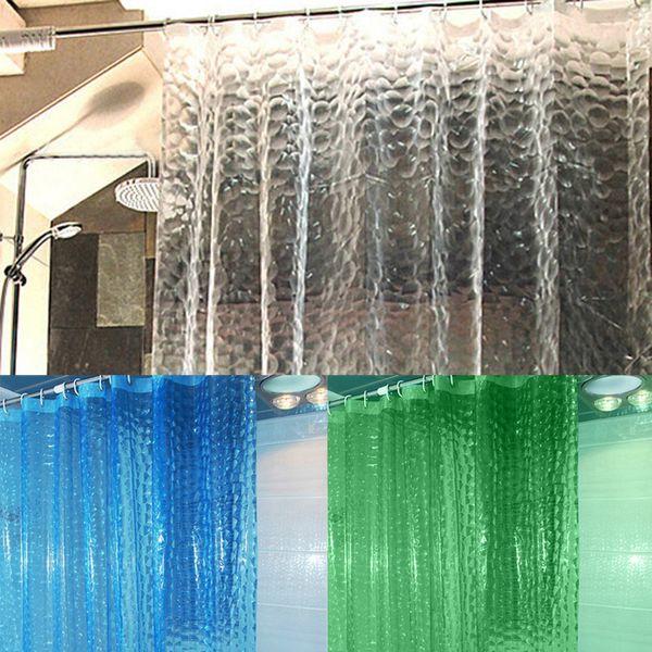 Eva translúcida 3d engrosada 1.8 / 2m cortinas de ducha moldeable impermeable cortina de baño C19042101
