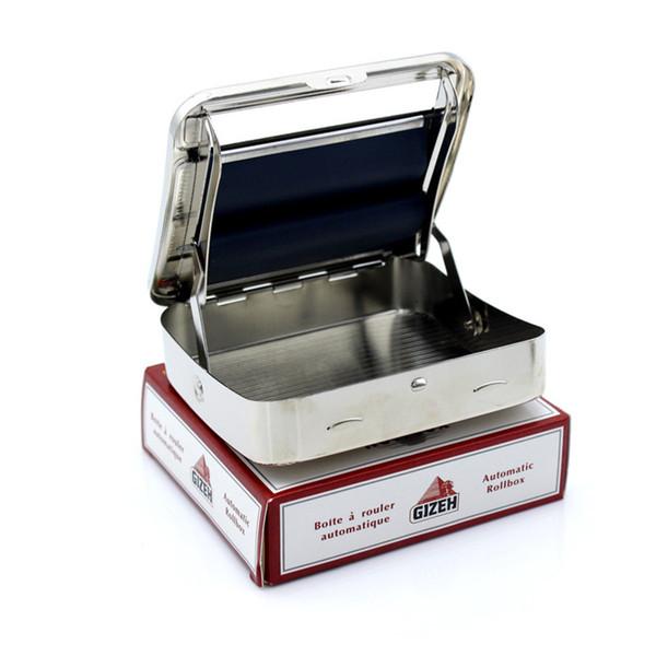 Portátil DIY GIZEH Dispositivo de caja automática de humo Caja de tabaco Máquina de colocación de cigarrillos Caja de colocación de cigarrillos de acero inoxidable Accesorios