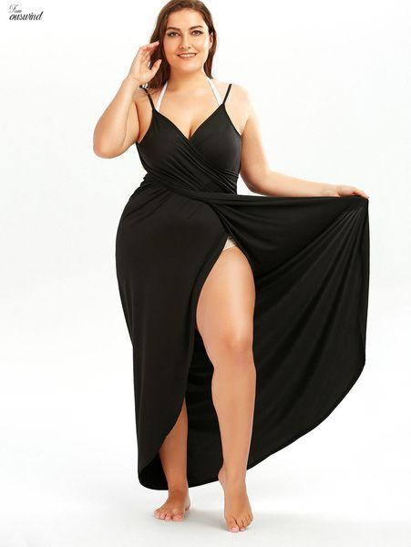 Enrole Maxi Cover Praia vestido sem mangas mulheres sexy Clube Maxi Vestidos alta Dividir Long Summer fêmea vestido roupas de grife