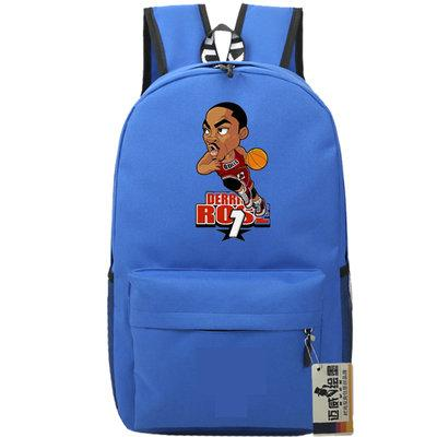 Dribble player backpack Derrick Rose daypack Basketball star schoolbag Cartoon rucksack Sport school bag Outdoor day pack