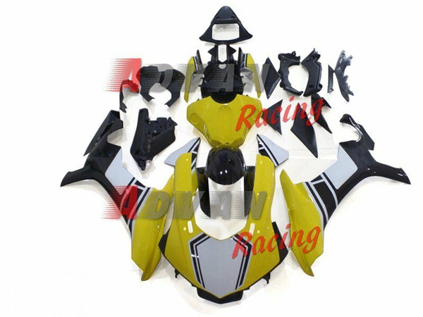 New Injection Fairing kit fit for YAMAHA YZF R1 15 16 17 YZF R1 2015 2016 2017 YZF1000 Motorcycle ABS bodywork set cool yellow white