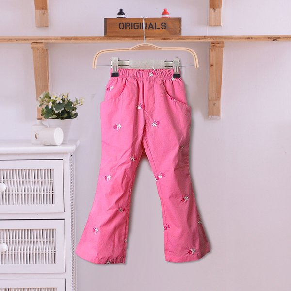 good quality 100% Cotton Fashion Flare Girls Spring Autumn Pants Quality Children's Trousers