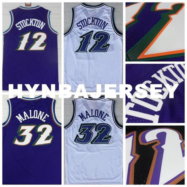 promo code f7bdf 23d8e 2019 Mens #12 Retro John Stockton Jersey Stitched Wholesale Cheap High  Quality #32 Karl Malone Jersey Retro Basketball Jersey Ncaa College From ...