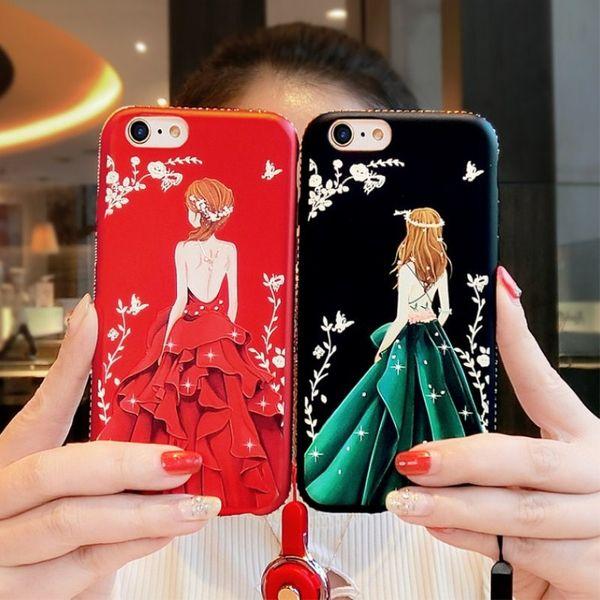 Die neue iphoneXSMAX Göttin zurück geprägte Handyschale iPhoneXR Silikon 7plus Anti-Fall Matte 6s