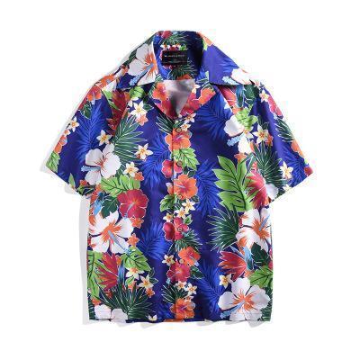 Mens Hawaiian Shirt Male Casual camisa masculina Imprimés à la noix de coco Beach Shirts manches courtes Loose Beach chemise homme 2019 NOUVEAU