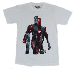 T-Shirt da uomo Captain America Civil War - Immagine 2 con cappuccio Iron Man Cap Inerspersed