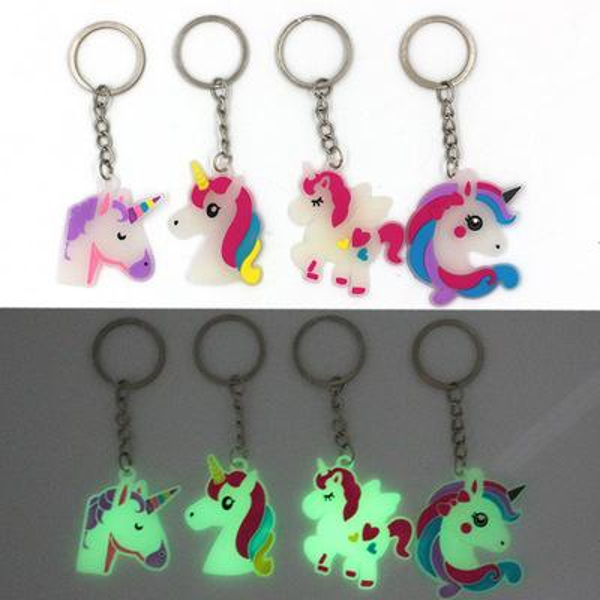Gökkuşağı Unicorn Parti Kauçuk Aydınlık Anahtarlık Bebek Duş Unicornio Doğum Günü Partisi Süslemeleri Çocuklar Olay Parti Malzemeleri