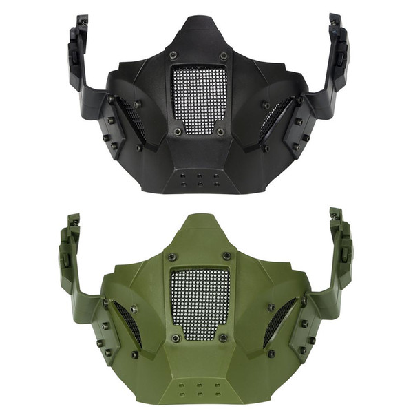 Tactical Iron Warrior Mask Half Face Modular Tactical Mask Solid Color Edition Fighting Equipment Movie Props