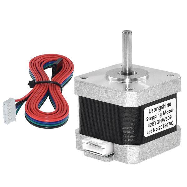 3D Printer 42BYGHW609 17 Bipolar Stepper Step Motor 12V 4Pin for CNC Laser